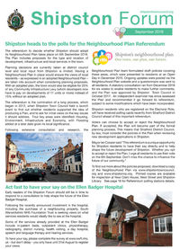 Shipston Forum - September 2018
