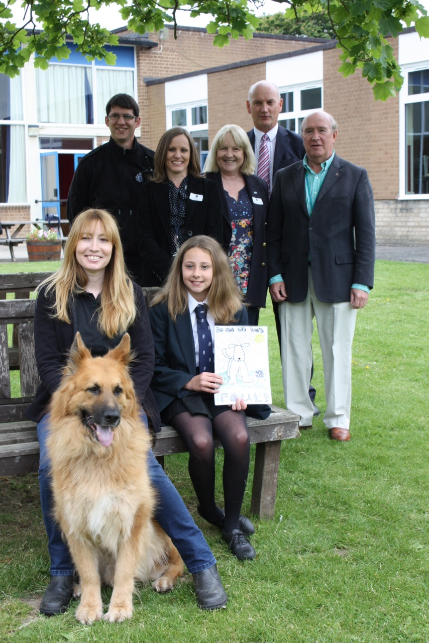 Prize presented to Imogen for Dog Fouling poster