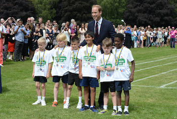 HRH The Duke of Cambridge launches Centenary Fields